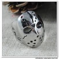 Friday the 13th  Hockey Jason Mask Rings Mens 316L Stainless Steel Ring free shipping