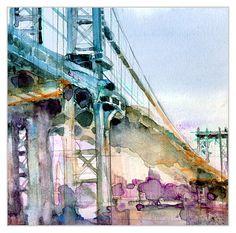 Manhattan Bridge by Dorrie Rifkin.