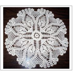 "Free pattern for ""Pineapple Doily""!"