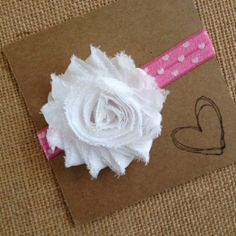 Valentine's Day Headband Pink or Red Heart Elastic by HipAndHail, $3.75