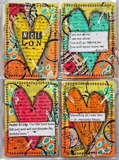 Triple the Scraps: {Glory Art} Scripture Challenge #5, Not Alone BIBLE JOURNALING CARDS.....You can get your plastic sleeves and albums @stampinbythesea dot com, PROJECT Life sleeves are great and would fit this perfectly!  Kimberly is wonderful & will help with your needed supplies!!! @stampinbythesea