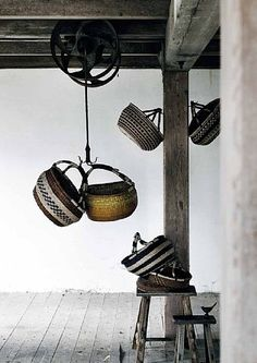 Market baskets - I have one (now TWO!) of these and LOVE it for everything from knitting to quilting to shoppping at the local farmers markets! Hanging Baskets, Wicker Baskets, Woven Baskets, Rattan, Bountiful Baskets, African Market, Little Corner, Market Baskets, Deco Design