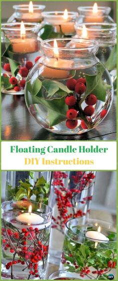 DIY Floating Candle Holder Instruction - Holiday Candle DIY Craft Ideas & Tutorials