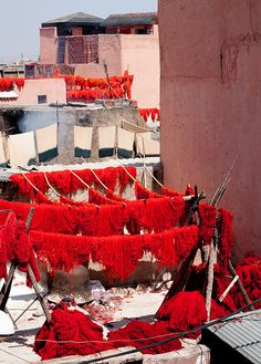 Dyed Yarn, Marrakech -  - #Marrakech, point of departure and arrival of all Maroc Désert Expérience tours http://www.marocdesertexperience.com
