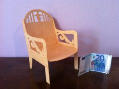 Wooden chair dolls or decoration scroll saw, $10.99