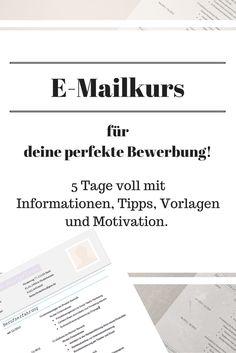 E-Mailkurs für deine perfekte Bewerbung