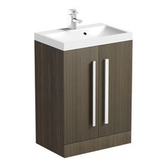 Orchard Wye essen black floorstanding vanity unit and basin