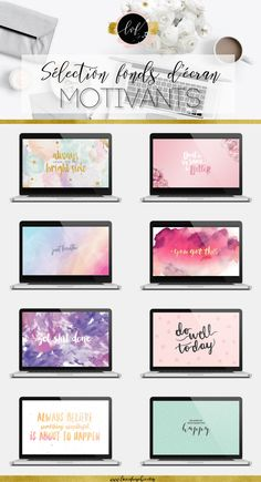 Sélection de fonds d'écran motivants pour accompagner la nouvelle année ! Wallpapers, Desktop, Motivational, Inspirational, Selection, Inspiration, Backgrounds, Citations, Quotes, Blog, Blogging, Babyblogging, La Vie Frenchie