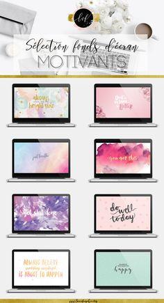 Sélection de fonds d'écran motivants pour accompagner la nouvelle année !   Wallpapers, Desktop, Motivational, Inspirational, Selection, Inspiration, Backgrounds, Citations, Quotes, Blog, Blogging, Babyblogging, La Vie Frenchie