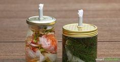 Duftende Pflanzenöl-Kerzen aus Schraubgläsern basteln