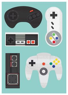 video game poster geekery print retro poster game by handz on Etsy (Jan Skácelík)