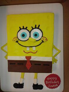 Bittercream spongebob cake