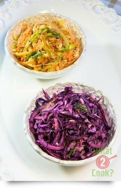 Carrot & Cabbage Slaw, dill & lemon: A healthy side salad for your next BBQ or casual dinner party Casual Dinner Parties, Cabbage Slaw, Healthy Sides, Side Salad, Coleslaw, Carrots, Bbq, Vegetarian, Lunch