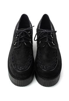 As long as Creepers have been around, I've never really cared for them at all, until now. Thanks Pinterest!  |  Creeper Platform Shoes in Black