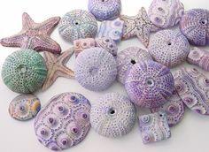 Polymer Clay Sea Urchins And Starfish Beads