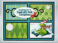 Christmas card made with OCL Hoppy Holidays