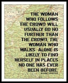 The woman...
