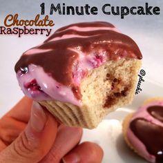 Chocolate Raspberry 1-Minute Cupcake