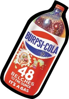 Burpsi Cola: Topps Wacky Packages Wall Graphics from WALLS 360. http://www.walls360.com/wackypackages
