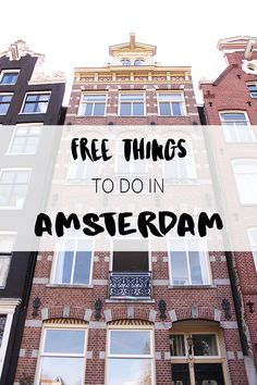 Visiting Amsterdam but you're on a budget? There are enough free things to do in thic city. Find out what and where on http://www.yourlittleblackbook.me. Have fun exploring Amsterdam!