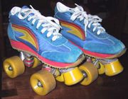 Colourful skates