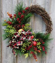 New England Holiday Wreath by NewEnglandWreath