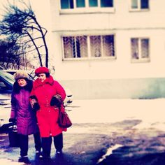 russia + winter + babushkas
