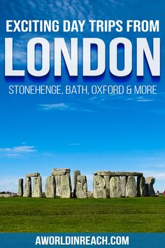 Check out these unforgettable day trips from London to escape the hustle and bustle of the city! Take a day trip from London to explore a unique city, see a quaint English village, or even visit a new country – the sky's the limit! Europe Destinations, Europe Travel Guide, Travel Guides, Backpacking Europe, Day Trips From London, Things To Do In London, Scotland Travel, Ireland Travel, London Eye