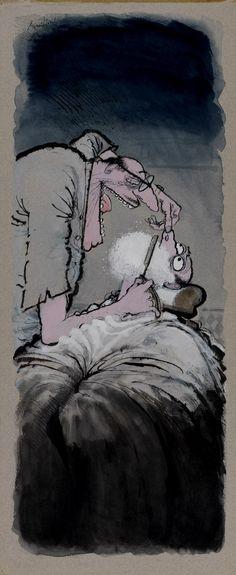 Ronald Searle Le barbier