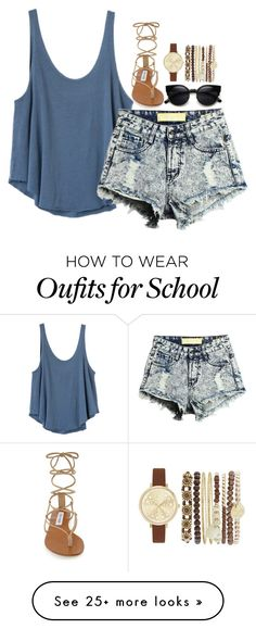 """""""Back to School: My Styles 2"""" by loubear223 on Polyvore featuring RVCA, Steve Madden and Jessica Carlyle"""