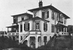 Palacete Numa de Oliveira em 1916 (Avenida Paulista). Hoje no local está um edifício com o mesmo nome