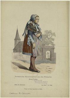 Peasant girl, Kreis Pyritz, Pommern