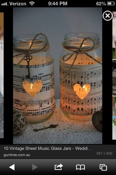 Sheet music decor. It would make a cool touch to a room.