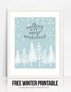 Winter Wonderland Printable by Live Laugh Rowe (1) #christmas #holidays