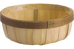 """Large Bun Basket, Natural [1] 10"""" x 3 1/2""""  $3.25 Price shown: EA"""