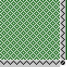 3 or 4 Shaft Diamond Twill - point draw