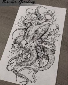 Female Octopus Tattoo Seabed Drawing Octopus Seabed Source by Octopus Tattoo Design, Octopus Tattoos, Octopus Art, Mermaid Tattoos, Leg Tattoos, Body Art Tattoos, Small Tattoos, Cool Tattoos, Tattos