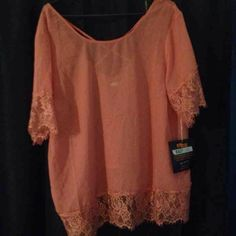 Rose sheer shirt Very cute with or without tank underneath Wet Seal Tops