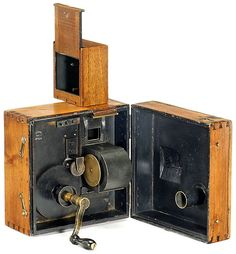 """Cinématographe Lumière"", early 35mm movie camera, 1895 - at the Lumière Museum, Lyon, France - visited April 2012"