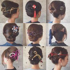 * * 浜松祭り 2日目♡ * * ありがとうございました! * * #ヘアアレンジ #浜松祭り #マリhair Two Buns Hairstyle, Mom Hairstyles, Modern Hairstyles, Wedding Hairstyles, Japanese Beauty Hacks, Bangs Updo, Hair Arrange, Updo Styles, Hair Setting