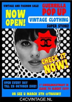 https://www.facebook.com/c4cvintage.nl  C4CVintage Pop Up Store   2 weeks Event Amsterdam  Copyright C4C