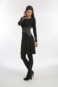 Minikleider - Kleid »Michaela«, Schwarz-Grau-Muster - ein Designerstück von Costura bei DaWanda