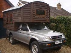 4x4 off road micro cabin truck motorhome 001   Handmade Micro Cabin Built on a 4x4 Diesel Truck For Sale