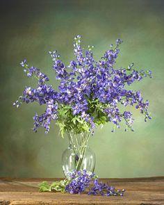 Delphinium Silk Flower Stem - Blue
