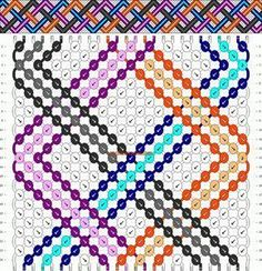 Normal Friendship Bracelet Pattern #799 - BraceletBook.com