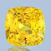 Unheated, Sri Lankan Yellow Sapphire, flawless and top color: 11 carats.