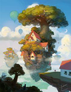 House on an island by k-atrina on deviantART
