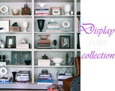 I like how all of these items are displayed...This could definitely work making all my clutter look pretty.