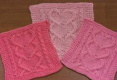 I Heart You washcloths - free pattern