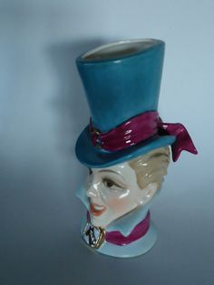 SPRING SALE Heads Up Lady Head Vase Lucille by hopscotchmemories